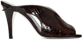 Givenchy Burgundy Python Heeled Mules