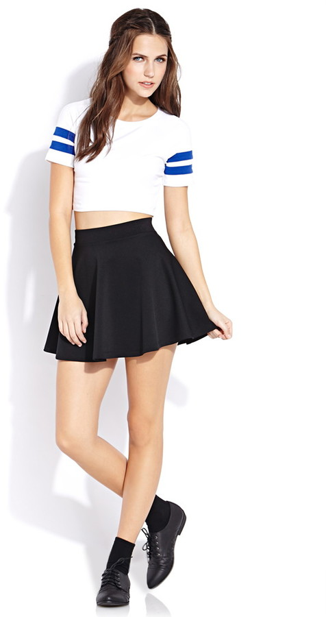Forever 21 Sporty Side Crop Top