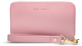 Holly & Tanager Champion Zip Around Leather Wallet In Pink