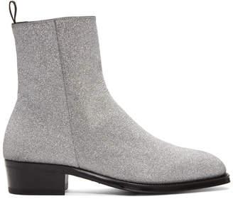 Alexander McQueen Silver Western Boots