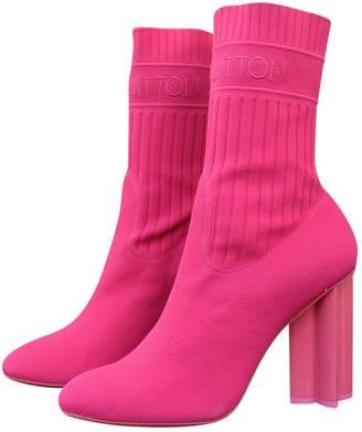 Louis Vuitton Silhouette Pink Cloth Ankle boots