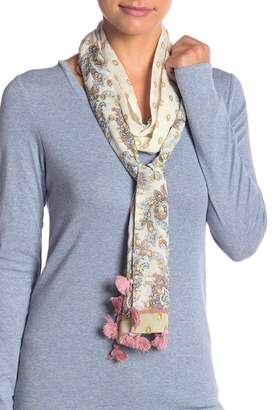 Rebecca Minkoff Floral Paisley Skinny Scarf