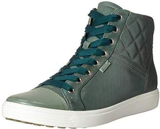 Ecco Women's Soft 7 Quilted High Top Fashion Sneaker