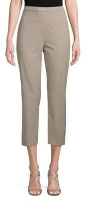 Elie Tahari Solid Cotton-Blend Cropped Pants