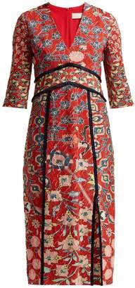 Peter Pilotto Floral-printed jacquard midi dress