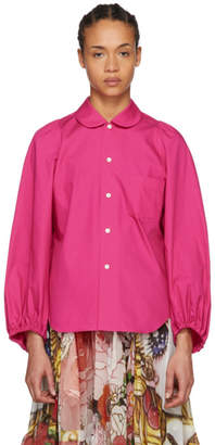 Comme des Garcons Pink Gathered Detailing Shirt