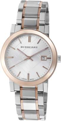 Burberry Men's BU9006 Large Check Stainless Steel Bracelet Dial Watch