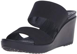 crocs Women's Leigh II 2 Strap Wedge W Wedge Sandal $38.95 thestylecure.com