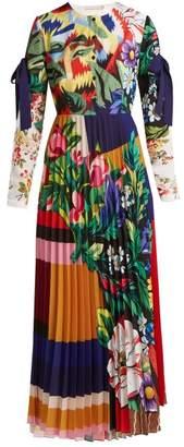 Mary Katrantzou Desmine Floral Printed Crepe Dress - Womens - Multi