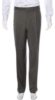 Canali Wool Pleated Pants