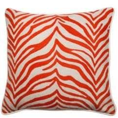 A & R Cashmere Zebra Crewel Pillow