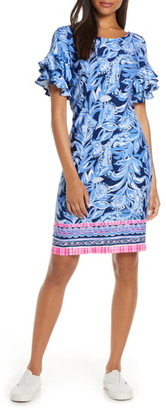 Lilly Pulitzer R) Dianna Ruffle Sleeve Dress