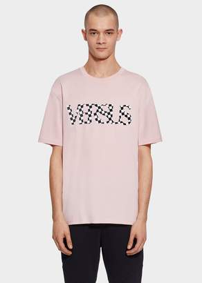 Versace Check VS Logo Oversized T-Shirt
