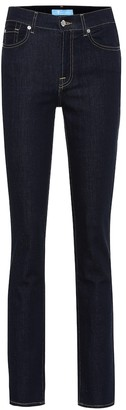 7 For All Mankind High-rise straight jeans
