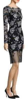 Diane von Furstenberg Illusion Lace Sheath Dress