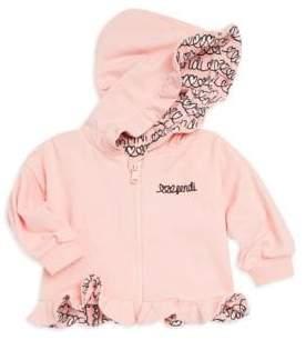 Fendi Baby Girl's Ruffle-Trimmed Hoodie
