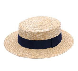 376bb88a4d981 Classic Italy Guinguette Pork Pie Boater Straw Hat Size 51 cm