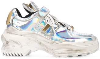 Maison Margiela holographic platform sneakers