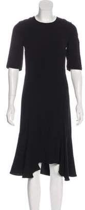 Marni Asymmetrical Midi Dress Black Asymmetrical Midi Dress
