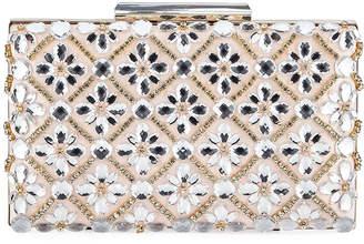 Sondra Roberts Jeweled Satin Clutch Bag