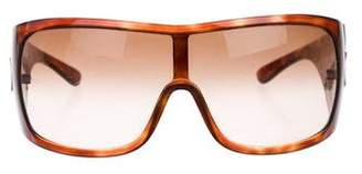 Prada Tortoiseshell Shield Sunglasses