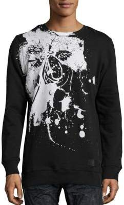 PRPS Stamped Cherub Graphic Printed Pullover