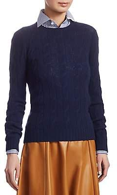 Ralph Lauren Women's Cable Knit Cashmere Sweater