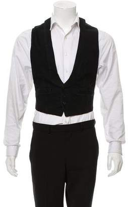 Karl Lagerfeld Woven Button-Up Vest