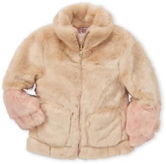 Jessica Simpson Toddler Girls) Reversible Faux Fur Coat
