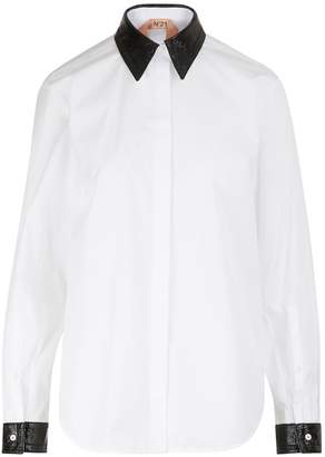 N°21 N 21 Jewelled collar shirt