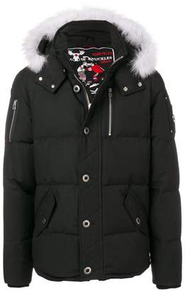 Moose Knuckles fur hood trim padded jacket