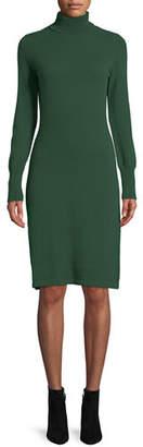 Neiman Marcus Cashmere Turtleneck Sweater Dress