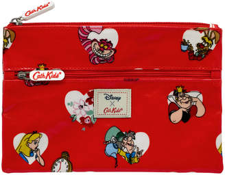 Cath Kidston Alice Hearts Double Zip Pencil Case