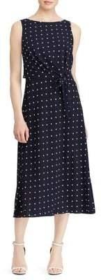 Lauren Ralph Lauren Crepe Sleeveless Midi Dress