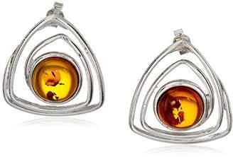 Sterling Silver Honey Amber Spring Earrings