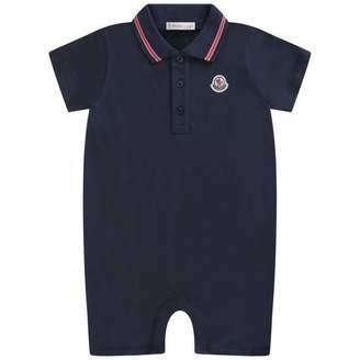 Moncler MonclerBaby Boys Navy Pique Polo Shortie