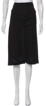 Rosetta Getty Striped Midi Skirt w/ Tags