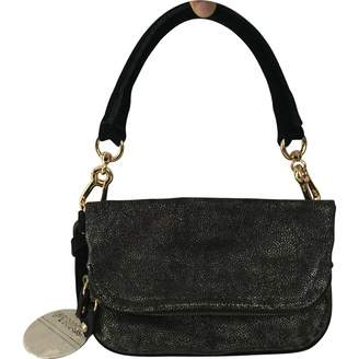 Pinko 100% Authentic Suede Leather Hobo Two Tone Small Shoulder Bag Clutch