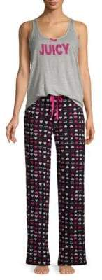 Juicy Couture Two-Piece Printed Pajama Set