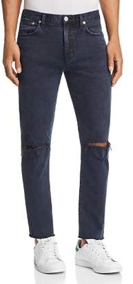 A Gold E AGOLDE Blade Skinny Fit Jeans in Spliced Blue