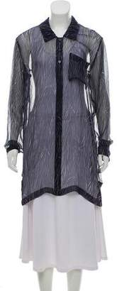 Philosophy di Alberta Ferretti Printed Long Sleeve Top