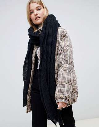 Asos DESIGN oversized long knit scarf in recycled polyester