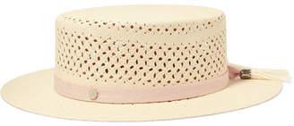 Maison Michel Kiki Tasseled Straw Boater - Cream