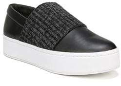 Vince Weadon Leather Knit Platform Sneakers