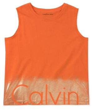 Calvin Klein Jeans Girl's Printed Cotton Top