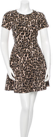 Kate Spade Kate Spade New York Cheetah Print Mini Dress