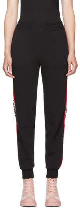 MSGM Black Elastic Band Lounge Pants