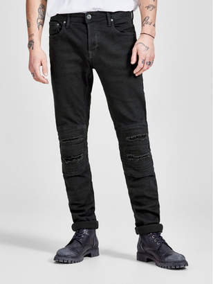 Jack and Jones Glenn Slim Fit Ripped Biker Jeans