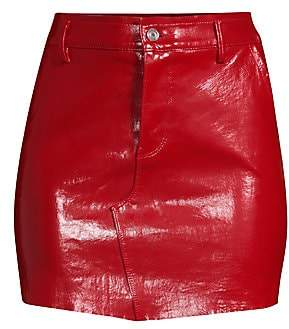 a27fb595eef8 RtA Women's Callie Leather Bodycon Mini Skirt