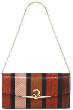Salvatore Ferragamo Gancio Clip Wallet On a Chain/Mini Bag